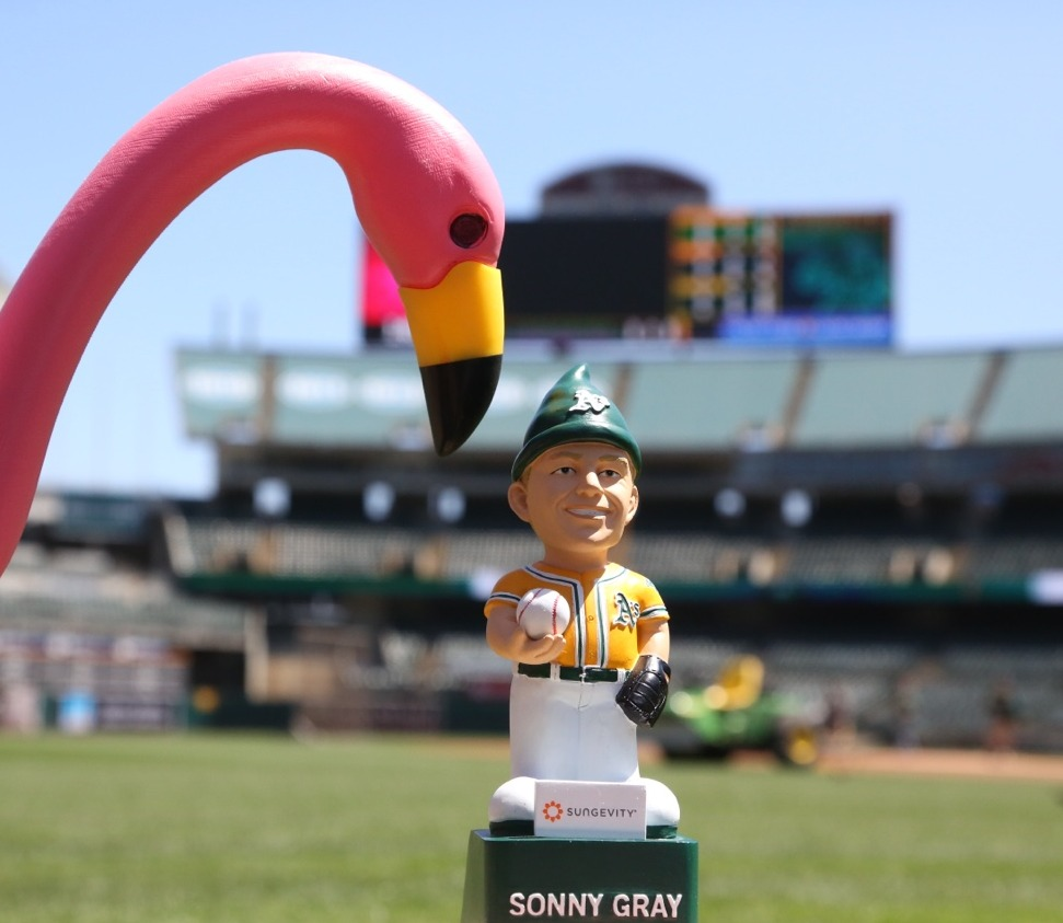 sonny gray garden gnome - oakland athletics