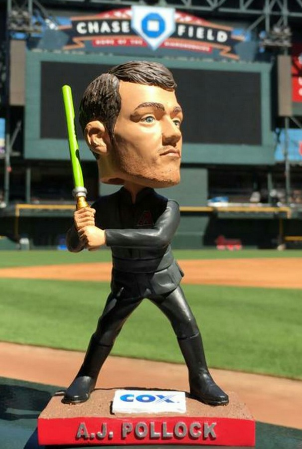 aj pollock star wars jedi bobblehead - arizona diamondbacks