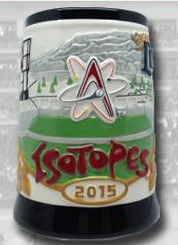 beer stein - albuquerque isotopes - colorado rockies