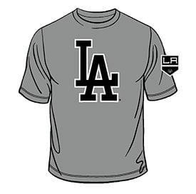 Los Angeles Dodgers_Kings T Shirt_8-12-15