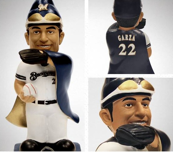 matt garza gnome - milwaukee brewers