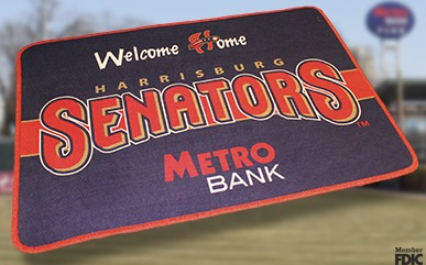 welcome mat - harrisburg senators - washington nationals