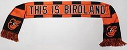 Baltimore Orioles_Birdland Knit Scarf_9-12-15