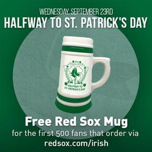 Boston_Red_Sox_Irish Beer Mug_9-23-15