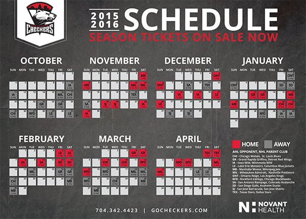 Charlotte Checkers_Magnet Schedule_11-8-2015
