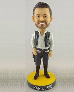 han longo star wars night bobblehead - tampa bay rays