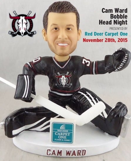 Red Deer Rebals Cam Ward Bobblehead 11-28-2015