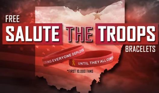 Lake Erie Monsters - RED Military Salute Bracelet - 11-14-2015