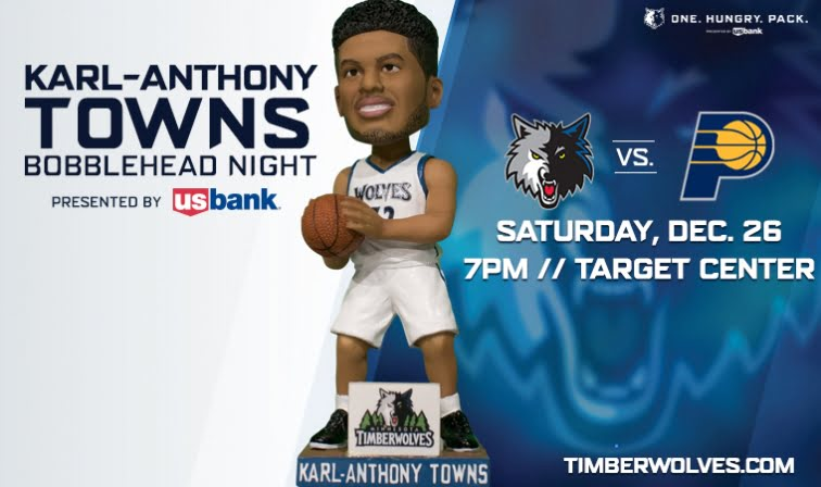 Minnesot Timberwolves Karl Anthony Bobblehead 11-12-2015