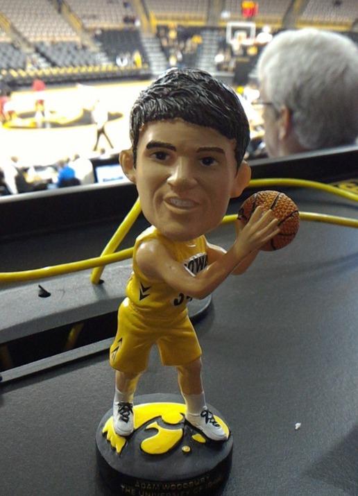 Adam Woodbury Bobblehead - Iowa Hawkeyes NCAA Men's Basketball - 1-5-2016