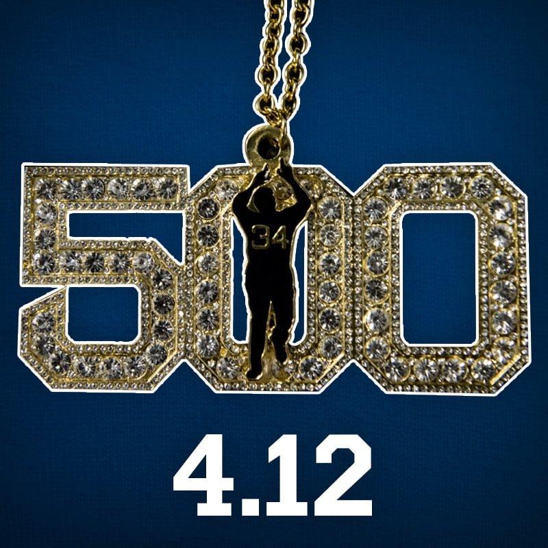 boston sox david ortiz 500 necklace 4 12 2016