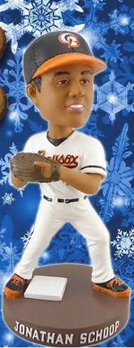 Jonathan Schoop Bobblehead - Bowie Baysox - Holiday Ticket Package by 1-8-2016