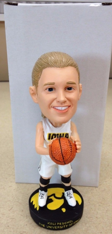 Kali Peschel Bobblehead - Iowa Hawkeyes NCAA Women's Basketball - 1-4-2016