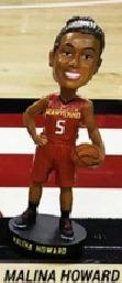 Malina Howard Bobblehead - Maryland Terps NCAA Women's Basketball - 2-28-2016