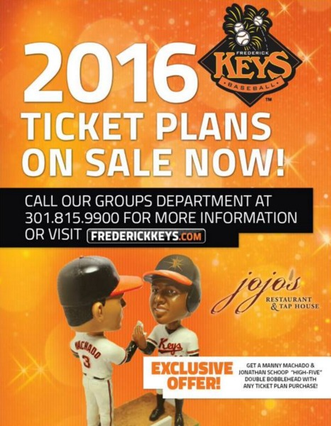 Manny Machado & Jonathan Schoop Bobblehead - Fredrick Keys - Ticket Plan Special Item