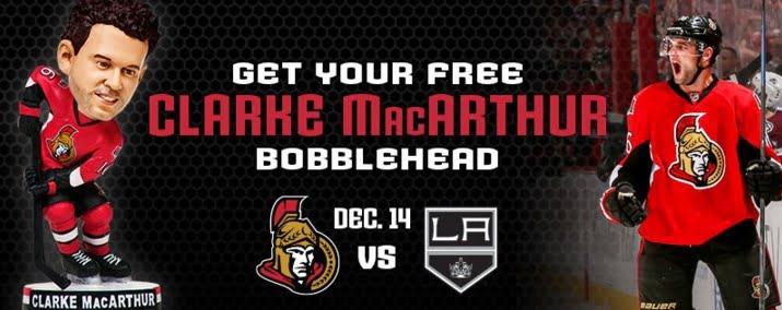 Ottawa Senators Clarke MacArthur 12-14-2015
