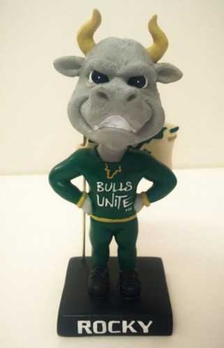 Rocky Mascot Bobblehead - University of South Florida Men's NCAA Basketball - 1-11-2016