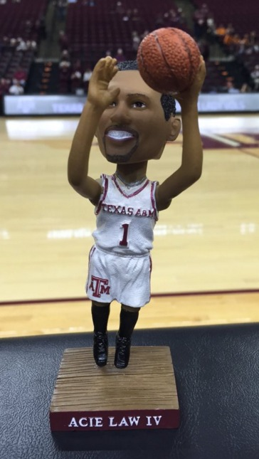 Acie Law IV Bobblehead - Texas A&M University - 2-16-2016