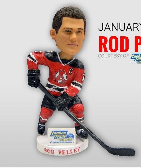 Albany Devils Rob Pelley Bobblehead-1-23-2016