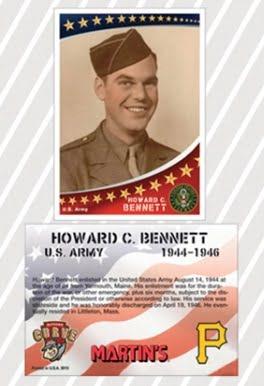 Altoona Curves Military Card Set 7-1-2016