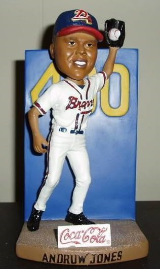 Andruw Jones Wall Catch Bobblehead Danville Braves