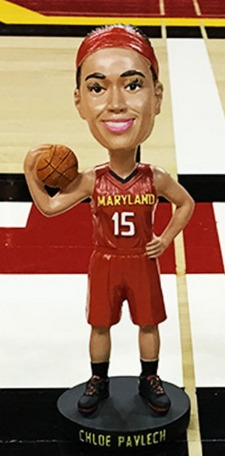 Chloe Pavlech Bobblehead - Maryland Terps Women's NCAA Basketball - 1-23-2016 (2)