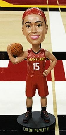 Chloe Pavlech Bobblehead - Maryland Terps Women's NCAA Basketball - 1-23-2016 (2)