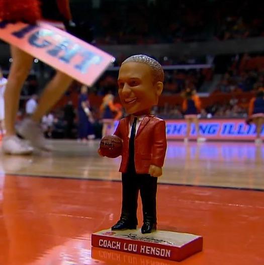 Coach Lou Henson Bobblehead - Illinois Fighting Illini Men's NCAA Basketball - 1-10-2016