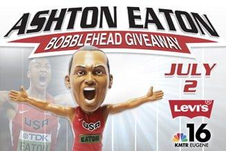 Eugene Emeralds Ashton Eaton Bobblehead  7-2-2016