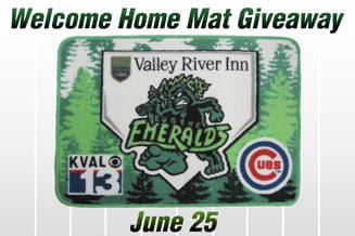 Eugene Emeralds Welcome Mat 6-25-2016