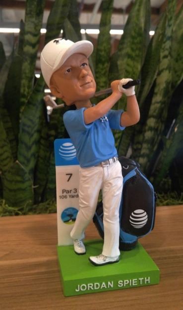 Jordan Spieth Bobblehead - Pebble Beach Pro-Am Golf - 2-13-2016