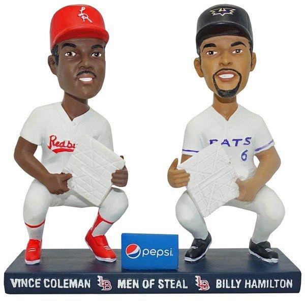 Louisville Bats Vince Coleman Billy Hamilton Double Bobblehead 7-23-2016-2