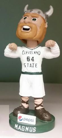 Magnus Bobblehead - Cleveland State Vikings (Men's NCAA Basketball) - 2-27-16