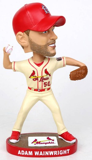 Memphis Redbirds Cardinals Adam Wainwright Bobblehead 5-14-2016