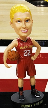 Tierney Pfirman Bobblehead - Maryland Terps NCAA Women's Basketball - 1-19-2016 (2)