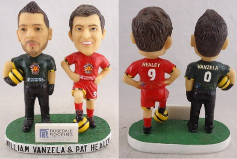 WIlliam Vanzela & Pat Healey Bobblehead - Baltimore Blast - 2-21-2016