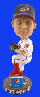 Akron Rubber Ducks Jaret Wright Bobblehead 4-30-2016