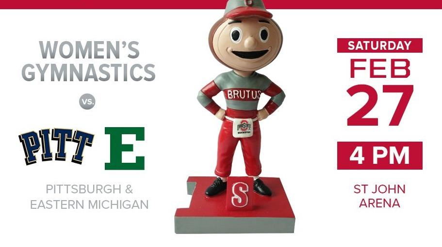 Brutus #6 Bobblehead - Ohio State (NCAA Women's Gymnastics) - 2-27-2016