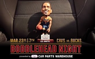 Cleveland Cavs JR Smith Bobblehead 3-23-2016