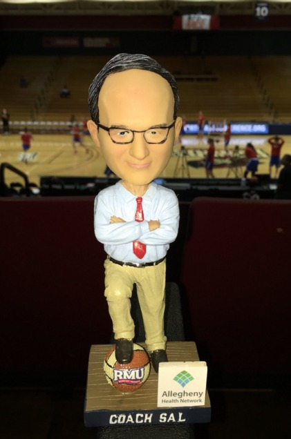 Coach Sal Bobblehead - Robert Morris University (Women's NCAA Basketball) - 2-20-2016