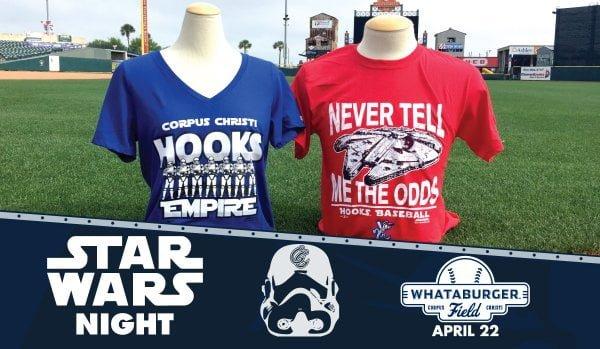Corpus Christi Hooks Star Wars T Shirt 4-22-2016