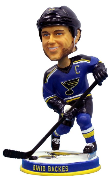 David Backes Bobblehead - St Louis Blues - 2-16-2016