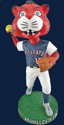 Hunter the Hillcat Softball Bobblehead - Roger State University (NCAA Softball) - 2-20-2016