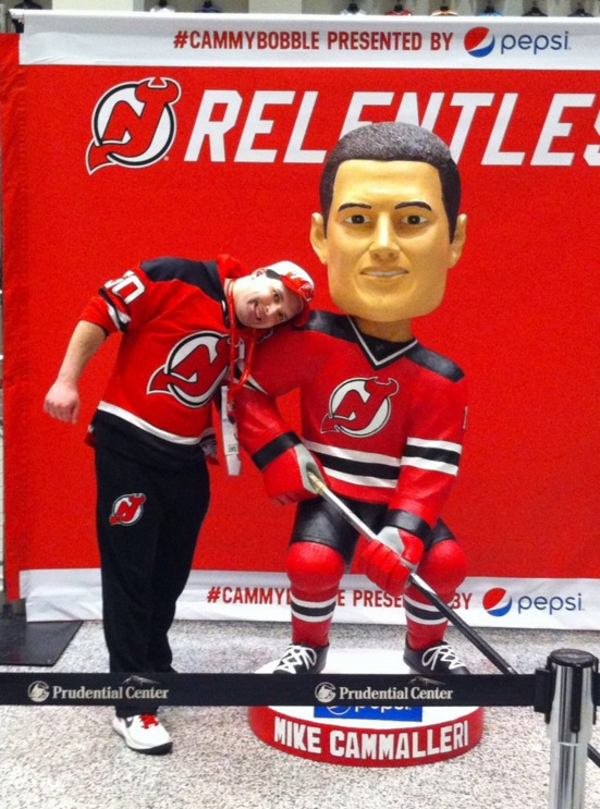 Mike Cammalleri Bobblehead - New Jersey Devils - 2-6-2016