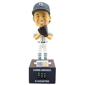 Tampa Bay Ray Archer K-Counter Bobblehead 4-30-2016