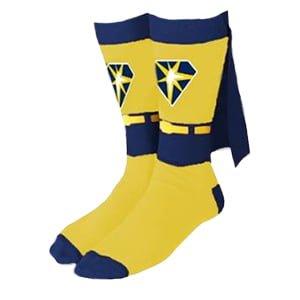Tampa Bay Ray Superhero Cape Socks 9-4-2016