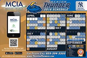 Trenton Thunder Magnet Schedule 4-8-2016