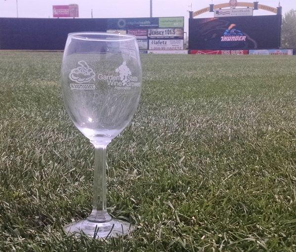 Trenton Thunder Wine Glass 5-8-2016