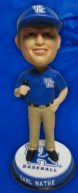 carl nathe bobblehead - university of kentucky (men's ncaa baseball) 4-22-2016