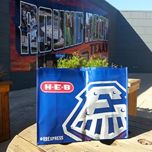 grocery bag - round rock express - 7-28-2016